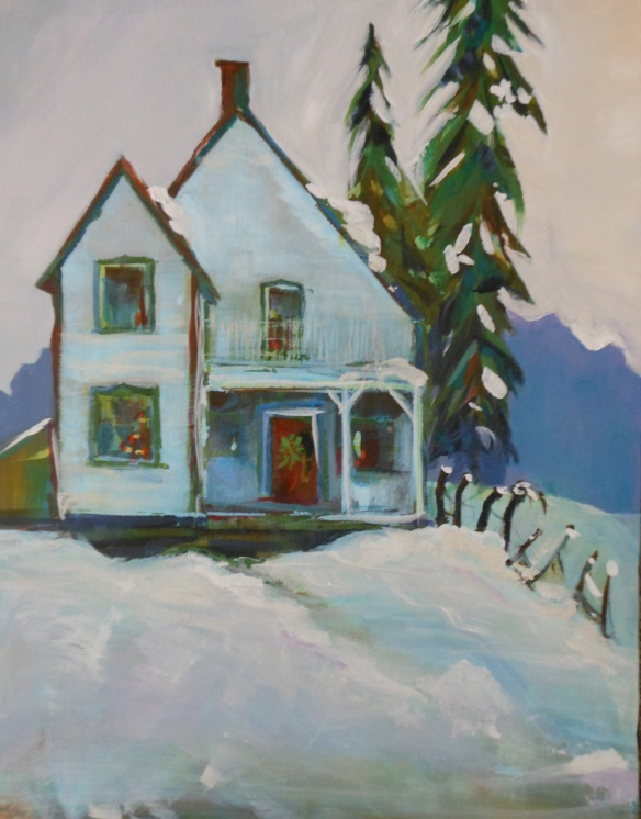 A little house near Kingston Ontario - I the photo in the summer and turned it into a winter picture.